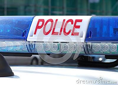 Police car sign