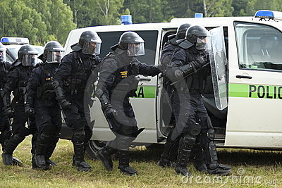 Police commando Editorial Image