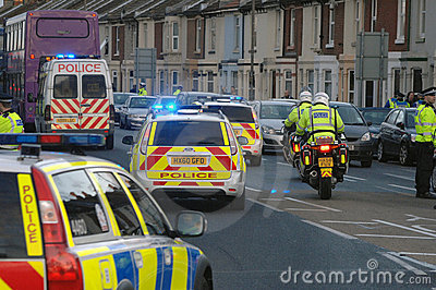 Police convoy Editorial Photography