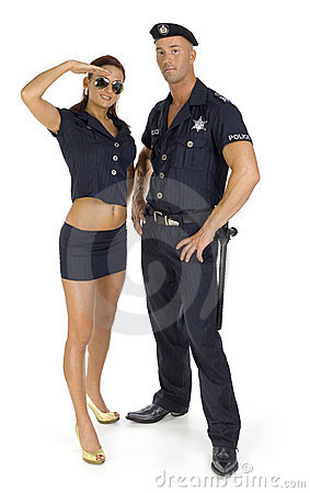 Free Police Couple Royalty Free Stock Images - 3002439