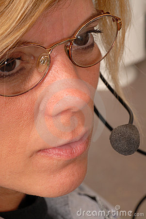 Police dispatcher s face