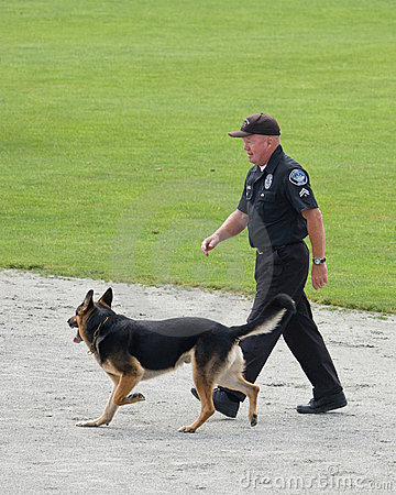 Police dog competition Editorial Photography