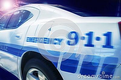 Police emergency car vehicle