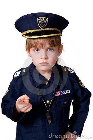 Police Girl on Duty