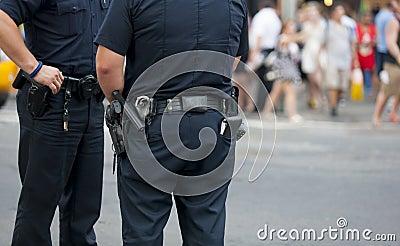 Police guarding