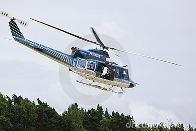 Police helicopter. Editorial Stock Image