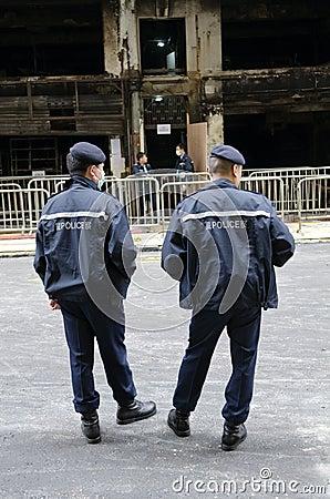 Police Hong Kong Editorial Image
