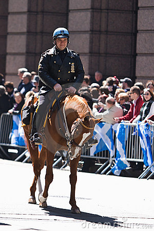 Police on Horse Editorial Photo