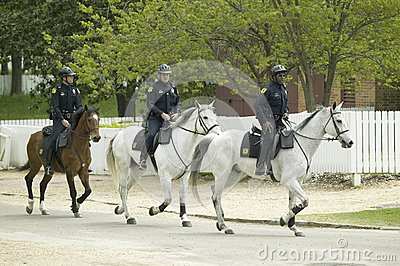 Police on horseback Editorial Image