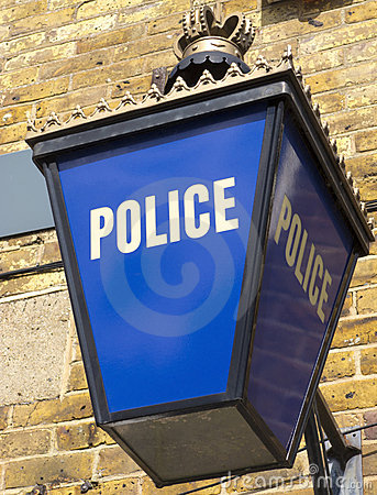 Police Lantern In England Outside The Station