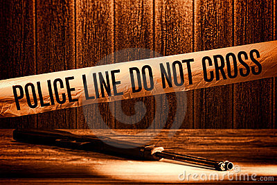 Police Line Do Not Cross Murder Crime Scene Tape