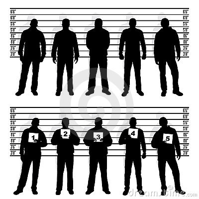 Free Police Line Up Silhouettes Stock Photos - 19578373