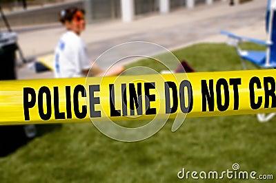 Police line-victim