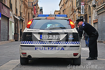 Police maltaise Image stock éditorial