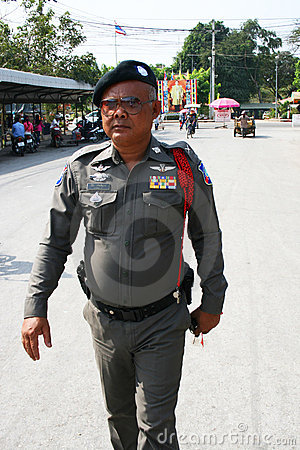 Police man in Thailand. Editorial Photo