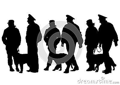 Police man whit dog