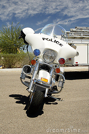 Police motocycle.