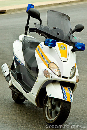 Police Motor Cycle Editorial Stock Photo