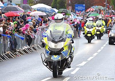 Police motorbikes Editorial Stock Image