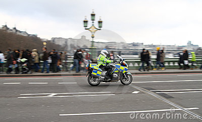 Police motorcycle Editorial Stock Image