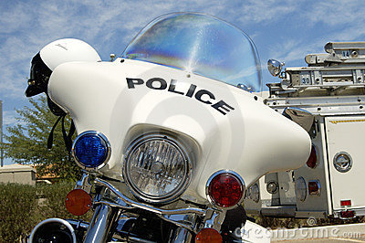 Police motorcycle.