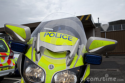 Police Motorcycle Editorial Photo