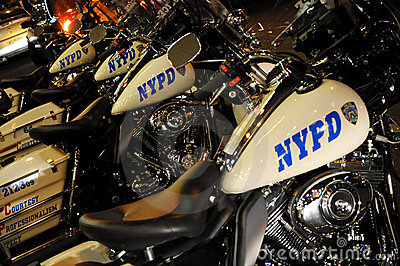 POLICE MOTORCYCLES NEW YORK Editorial Stock Photo