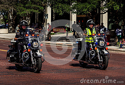 Police Motorcyclists. Editorial Photo