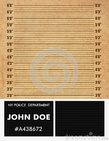 Police mugshot background