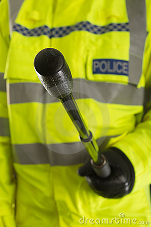 Police officer with baton