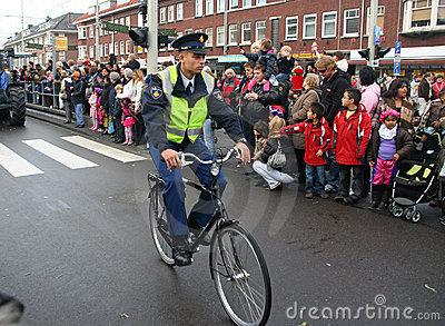Police Officer on Bike Editorial Photo