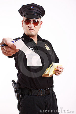 Free Police Officer Giving Citation Stock Photography - 12328792