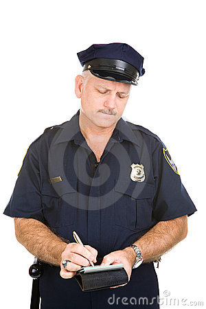 Free Police Officer - Parking Ticket Stock Photos - 5282593