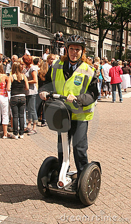 Police Officer on Segway Editorial Image