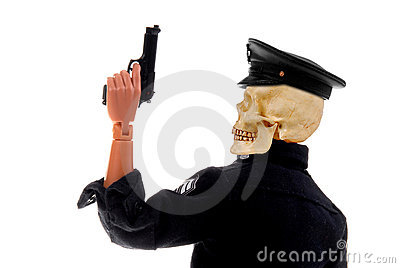 Police officer skull head