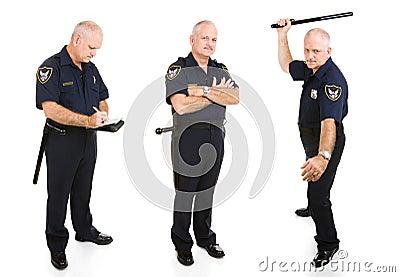Police Officer Three Views