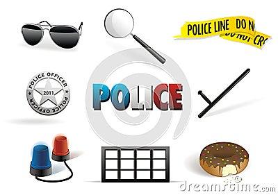 Police & order icon set