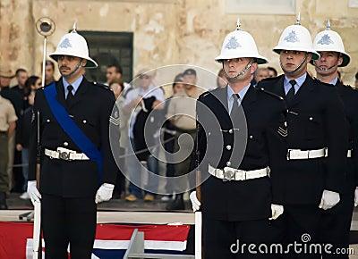 Police Parade Editorial Stock Photo