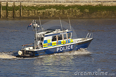 Police Patrol Boat - London - England Editorial Image