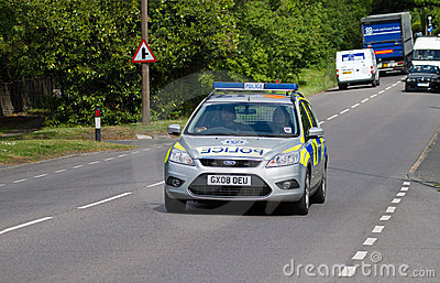 Police Patrol Car Editorial Photography