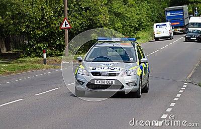Police Patrol Car Editorial Photography