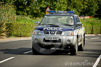 Police patrol car, England, UK Editorial Image