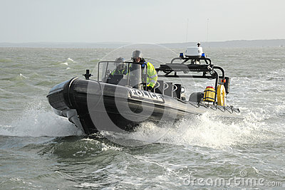 Police patrol RIB at sea Editorial Photography