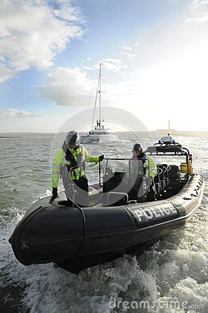 Police patrol RIB up close Editorial Image