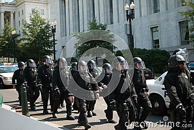 Police Presence Editorial Stock Photo