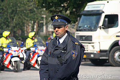 Police on Prinsjesdag Editorial Stock Photo