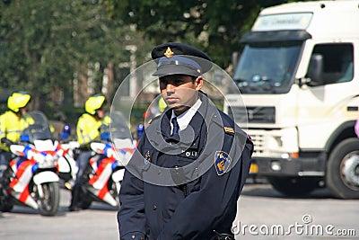 Police on Prinsjesdag Editorial Stock Photo