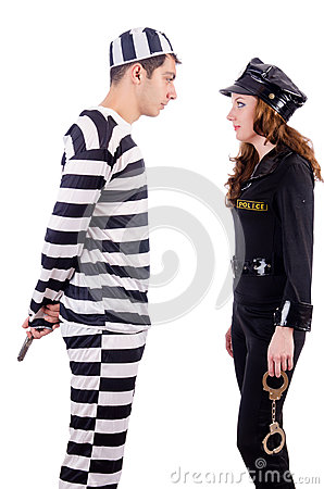 Police and prison inmate