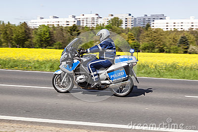 The police protects the 51st bike race Editorial Stock Image