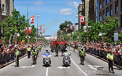 Police and RCMP in Canada Day Editorial Stock Photo